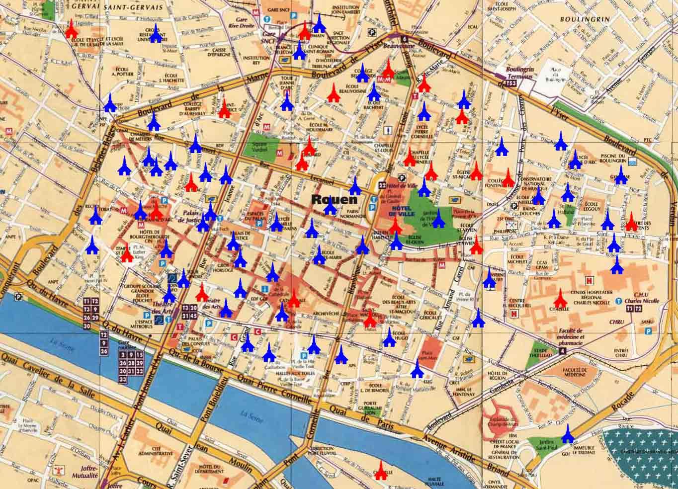 plan cul a 3 Rouen